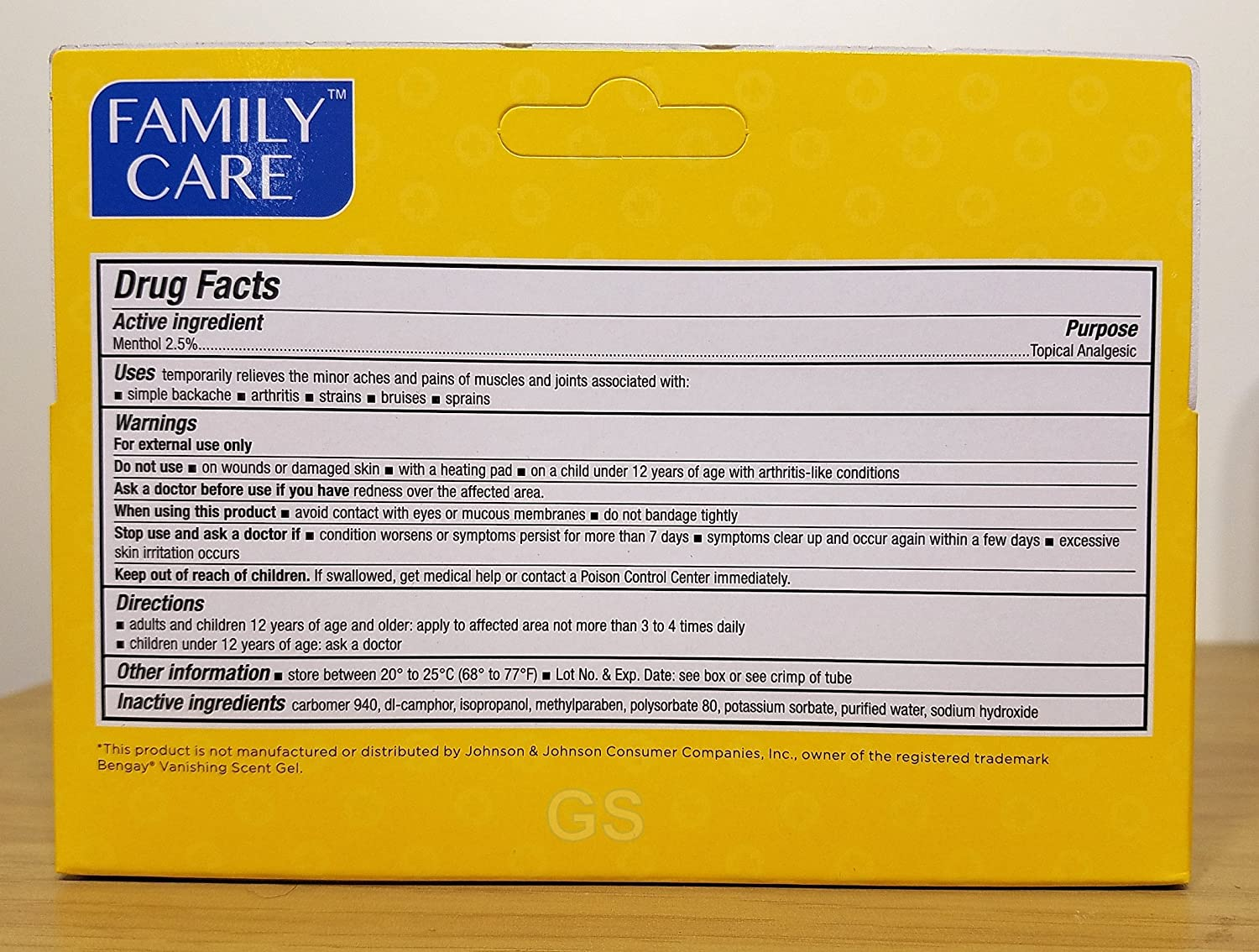 Family Muscle and Joint Vanishing Gel, 2-Ounce Tubes (Pack of 24): Health & Personal Care