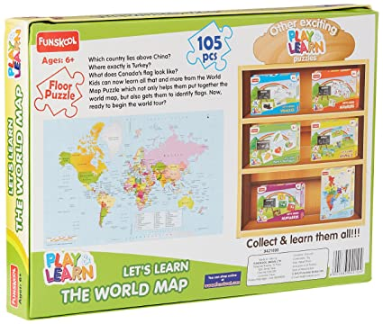 Buy funskool play learn world map puzzles online at low prices in buy funskool play learn world map puzzles online at low prices in india amazon gumiabroncs Choice Image
