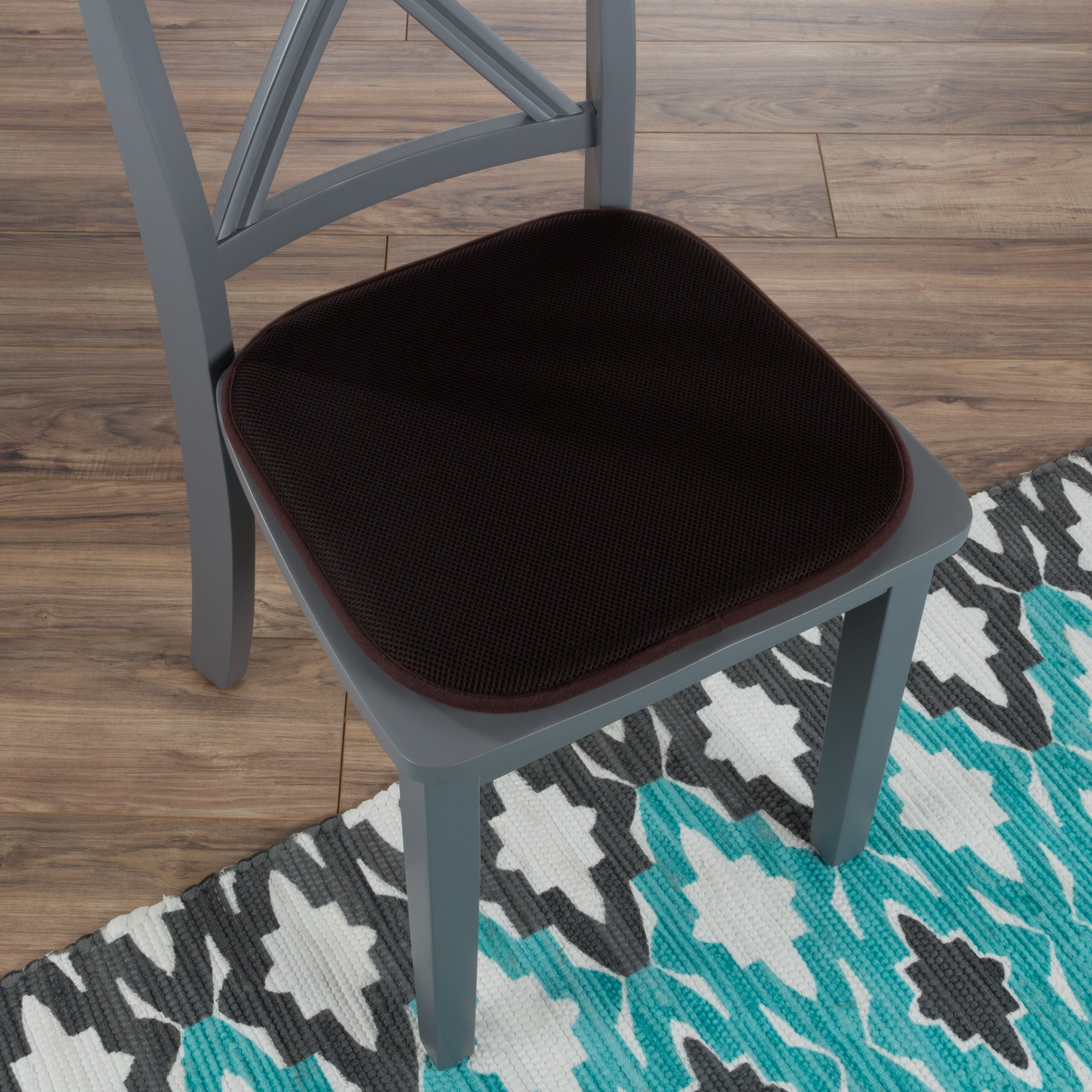 "Lavish Home 82-TEX1045BR Memory Foam Chair Cushion-Square x 16"", 16x16, Brown by Lavish Home (Image #1)"