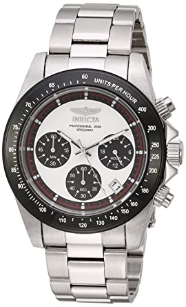 Invicta Mens Speedway Quartz Stainless Steel Casual Watch, Color:Silver-Toned