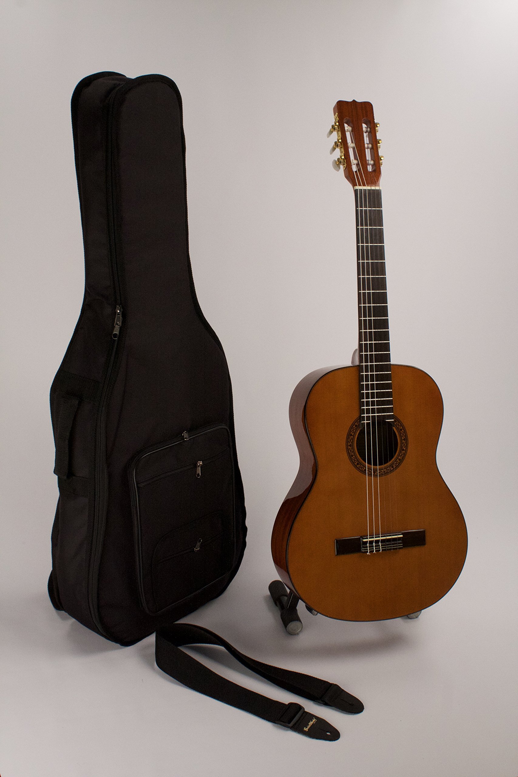 Classical Guitar Nylon String Higher Quality Full Size LEFT HANDED Completely Set-Up In My Shop For Perfect & Easy Play With Easy & Stay In Tune Strings & Strap & Case