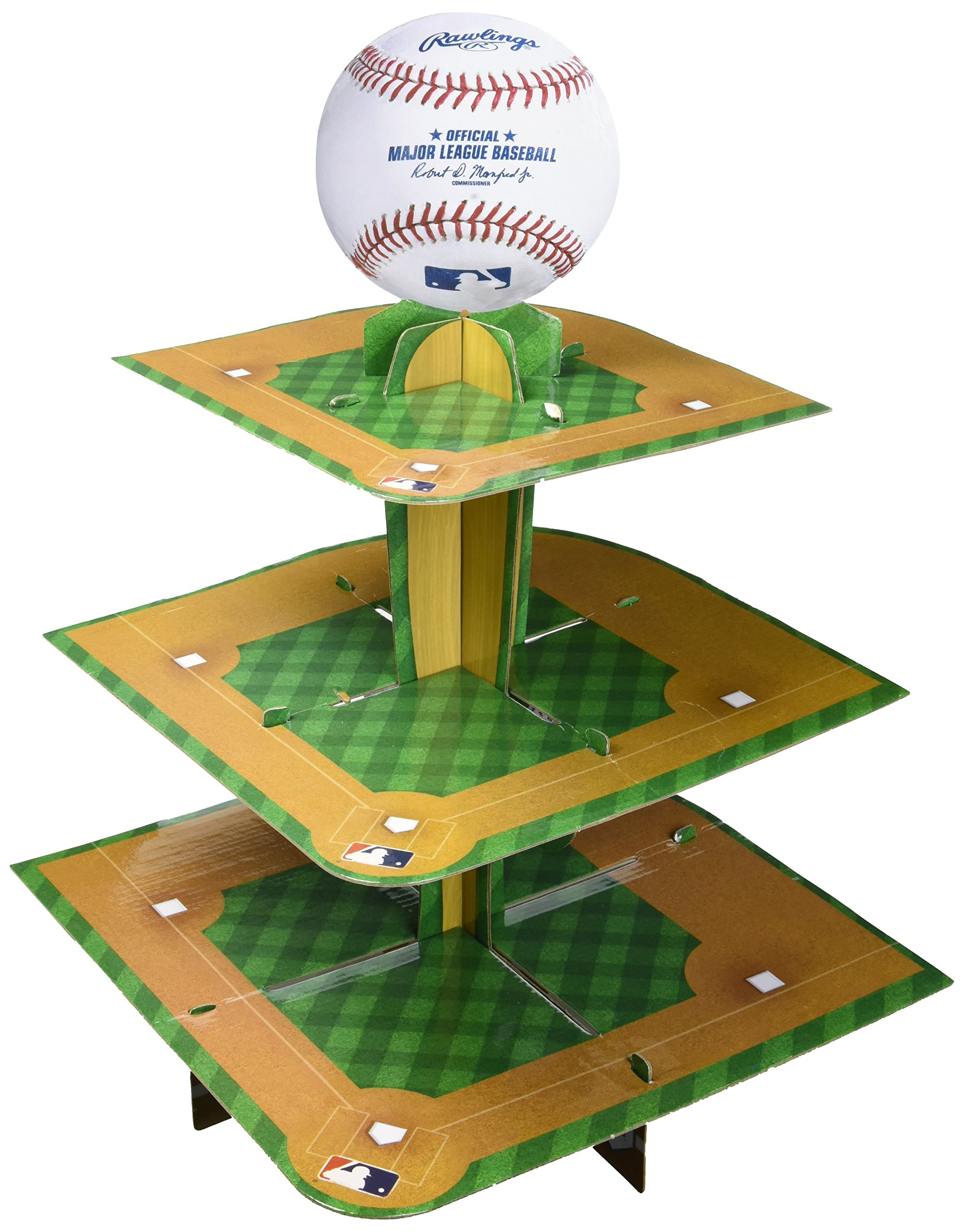 Amscan Rawlings Baseball Collection Treat Stand, Party Table Decoration, 6 Ct.