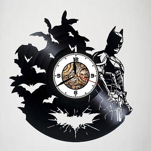 Amazon.com: BATMAN - MOVIE - COMICS - Handmade Vinyl Wall Clock ...