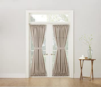 Sun Zero Barrow Energy Efficient Patio Door Curtain Panel, 54 x  72,