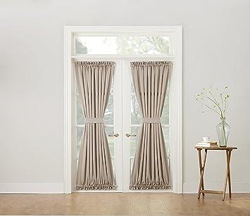Sun Zero Barrow Energy Efficient Patio Door Curtain Panel, 54u0026quot; X  72u0026quot;,
