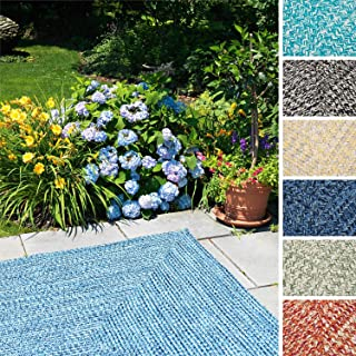product image for Colonial Mills Ocean's Edge Braided Outdoor Rug High Tide Blue 8' x 11' 8' x 10' Rectangle