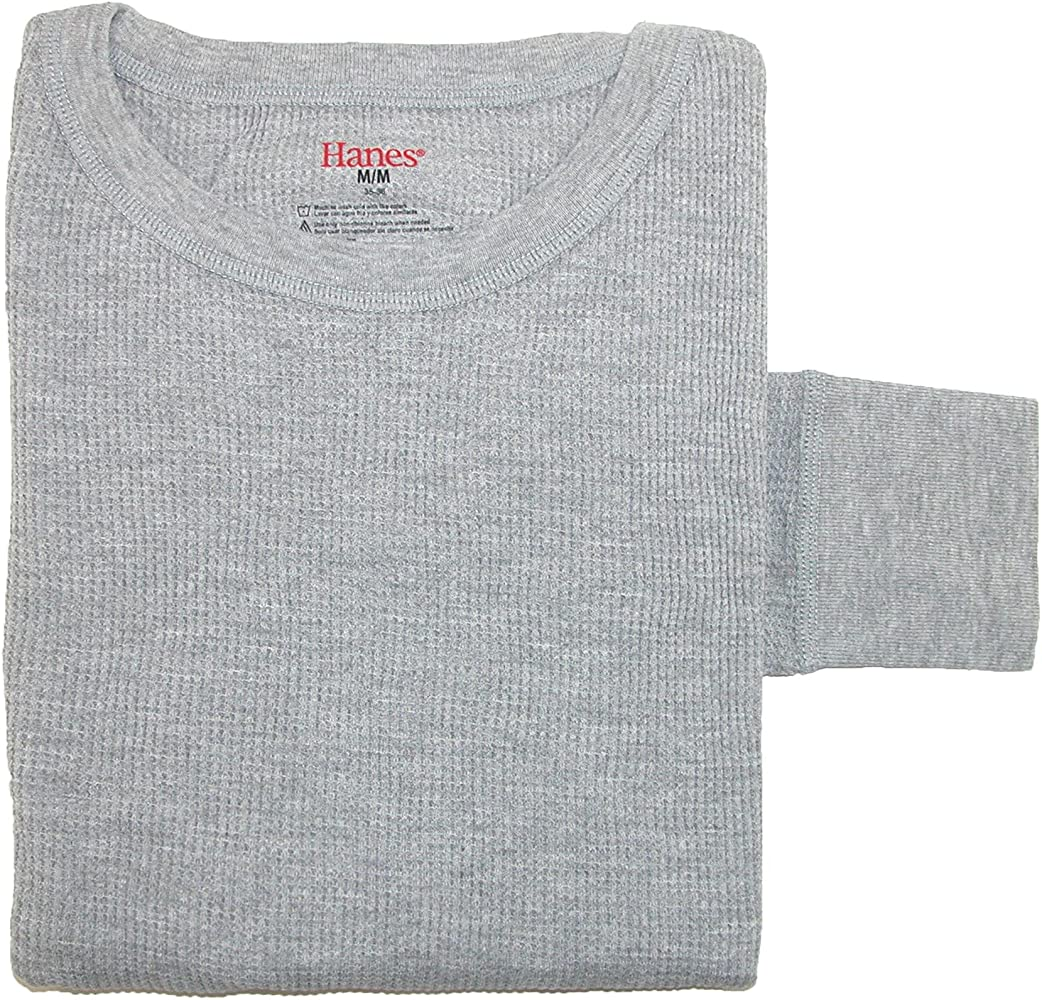 Hanes Womens X-Temp Thermal Crew Shirt Grey Heather XL