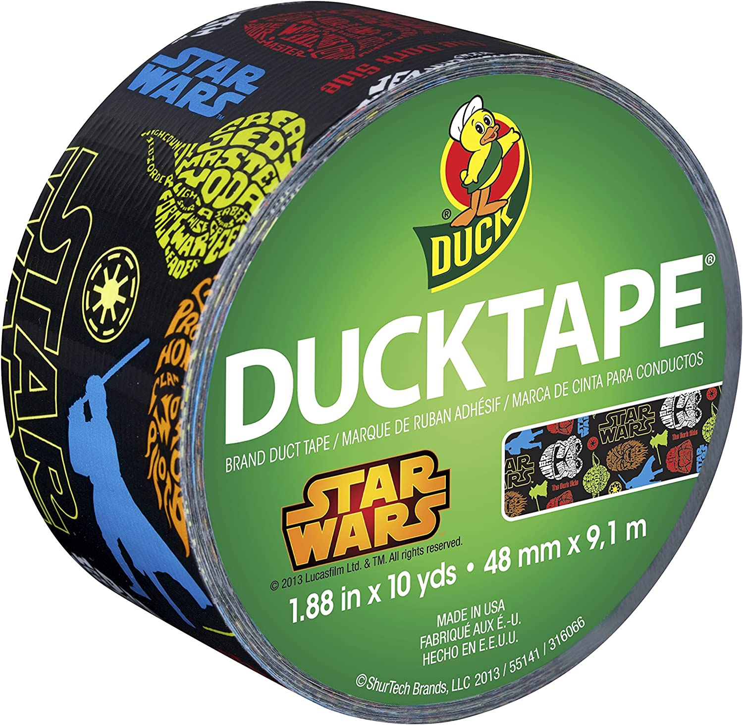 "1 Roll       UP-7 Galaxy Duck Brand Duct Tape Roll-1.88/"" x 10 Yard"