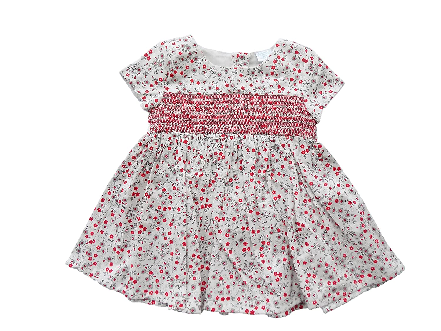 1cfab40fe Amazon.com: Edgehill Collection Floral Smocked Baby Girls' 18 Month Dress &  Leggings: Clothing