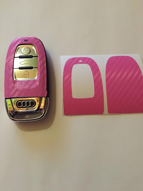 Carbon Folie / Dekor Rosa - Pink Schlü ssel Key A3 Q7 8P 8K S4 A5 8T A6 RS4 4F 4G A8 Q5 S5 RS A3 A1 A2 A7 A8 RSQ5 SQ5 Design-Folien089
