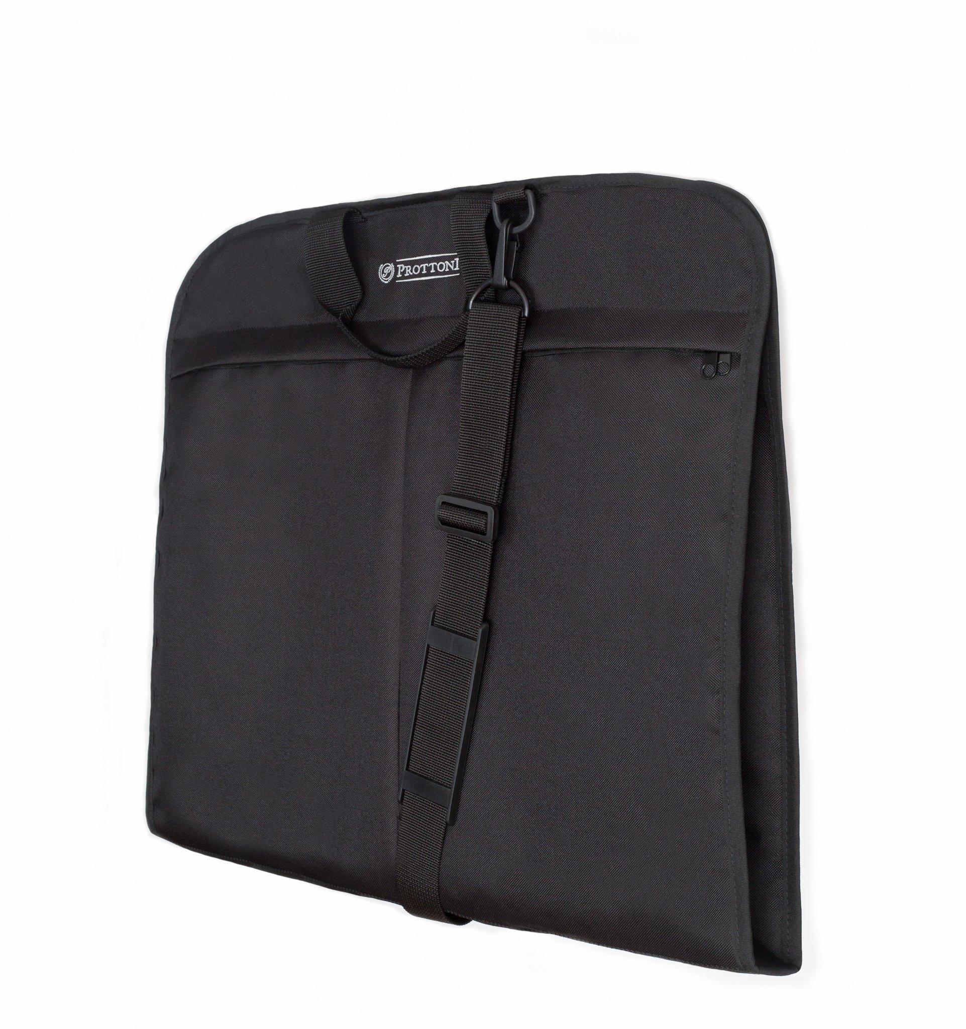 Prottoni 40'' Garment Bag - Carry on Suit Bag with Shoulder Strap - Water Resistant