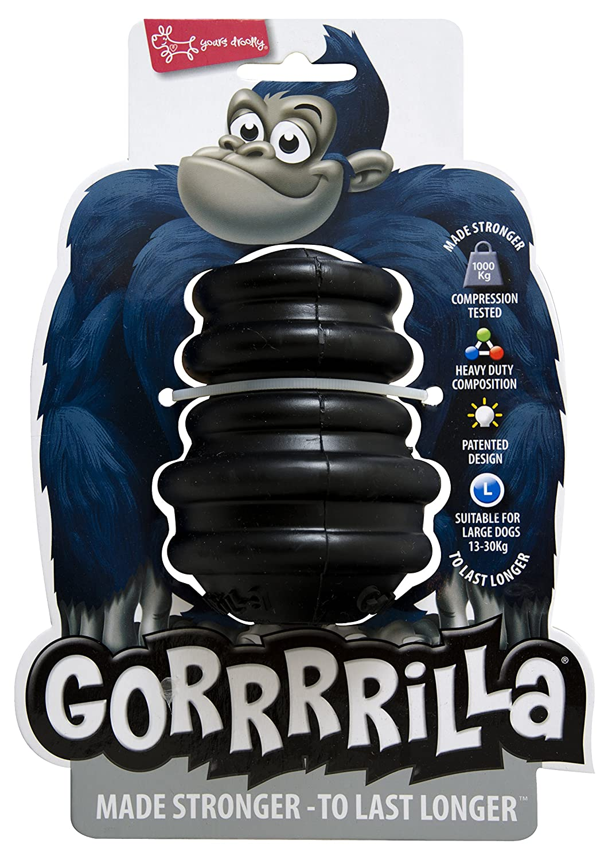 EUROPET Jouet pour Chien Gorrrrilla Classic Rubber Toy Large Black 13-30kg XAL794