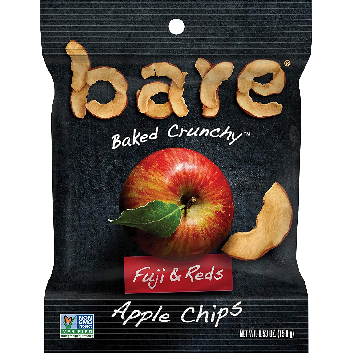 bare Baked Crunchy Apple Fruit Snack Pack, Gluten Free Snacks, Fujis & Reds, 0.53oz Snack Bags (16 Pack)