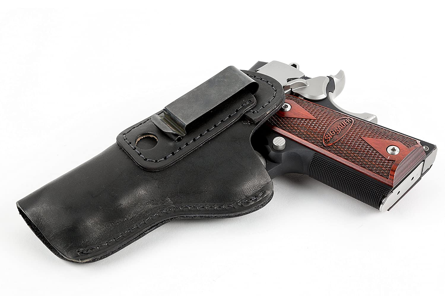 Relentless Tactical The Defender Leather IWB Holster - Fits Most 1911 Style  Handguns - Kimber - Colt - S & W - Sig Sauer - Remington - Ruger & More -