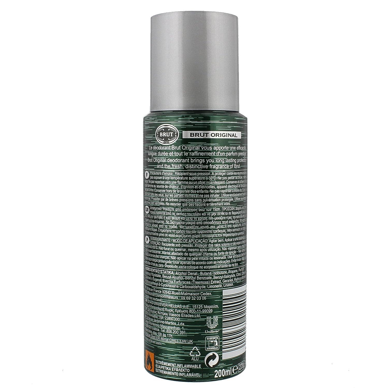 Brut Original Deodorant Spray For Men 200 Ml Amazoncouk Health