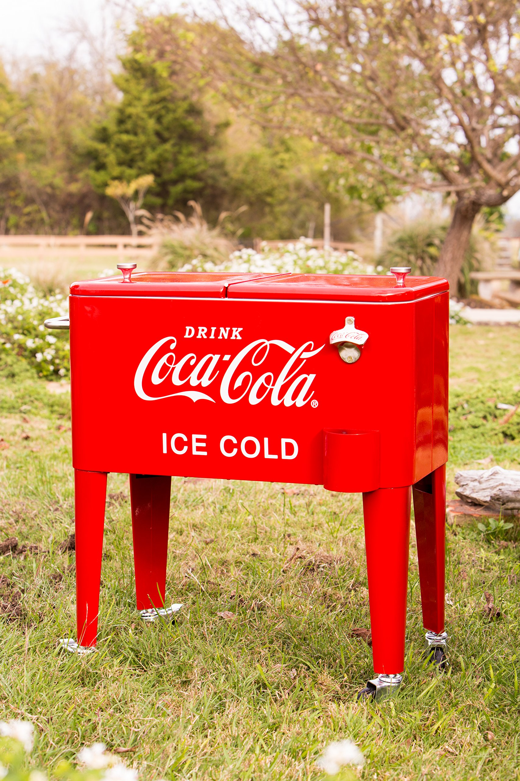 Leigh Country CP 98108 Retro Metal Coca-Cola Cooler, 60 Quart