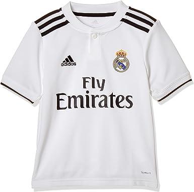 adidas 18/19 Real Madrid Home - Camiseta niño: Amazon.es: Ropa y accesorios