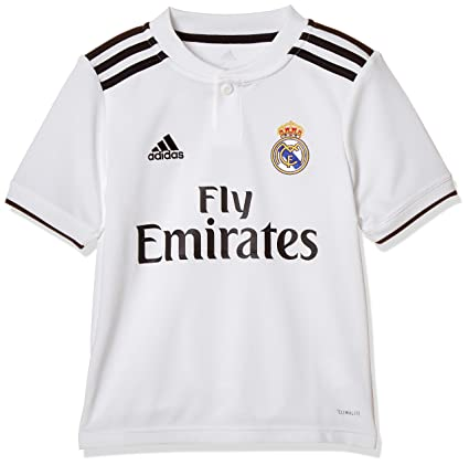 adidas Real Madrid 2018/19 Short Sleeve Home Jersey - Youth - Core White/