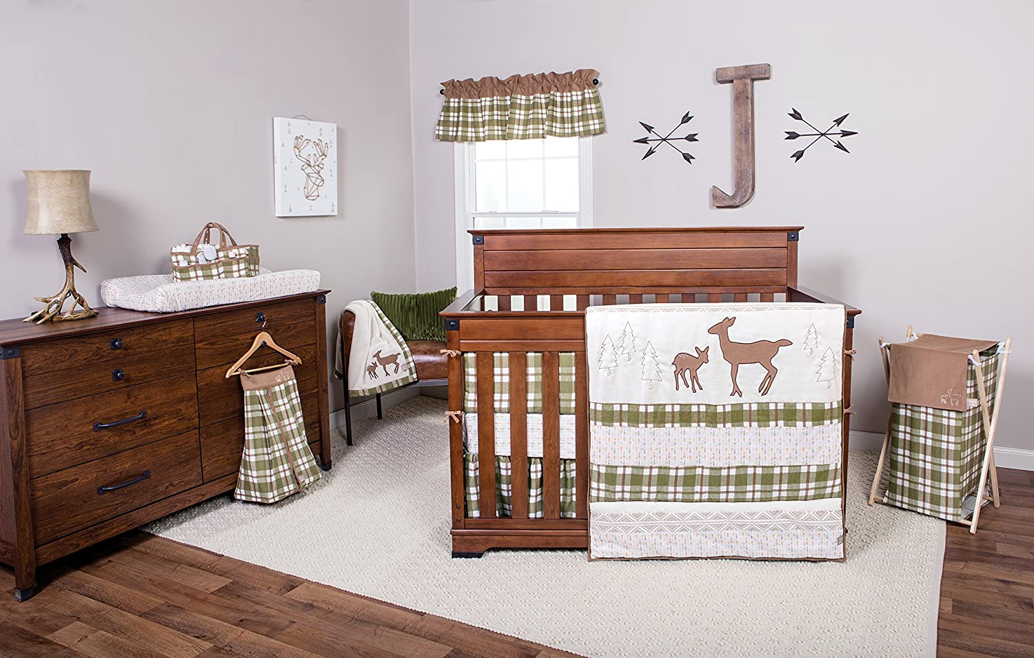 Amazon.com: Trend Lab Plaid Deluxe Flannel Changing Pad Cover, Sage/Brown/Cream: Baby