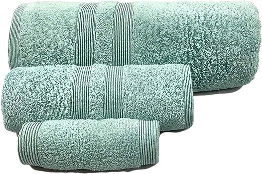 Amazon Com Puffy Cotton Blue Bath Towels Bathroom Sets Luxury