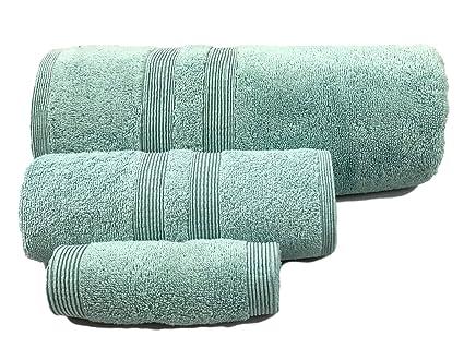 Amazoncom Puffy Cotton Blue Bath Towels Bathroom Sets Luxury Cheap