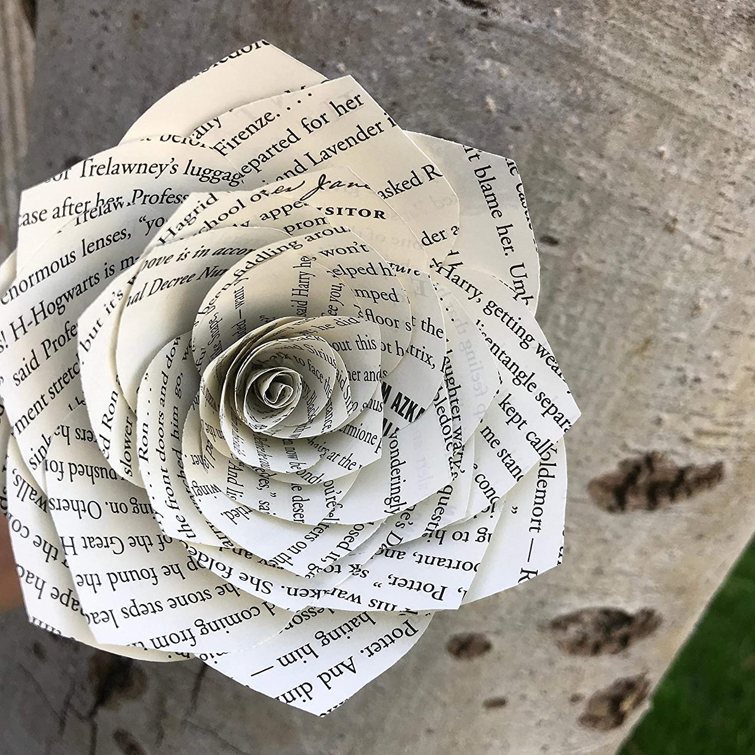Amazon Book Page Paper Flower Handmade