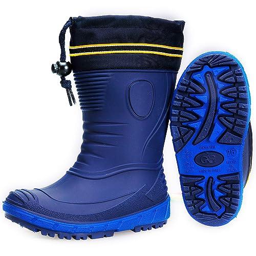 AQUAZON Classic Botas de Goma para niños, Botas de Agua, Botas de Lluvia,