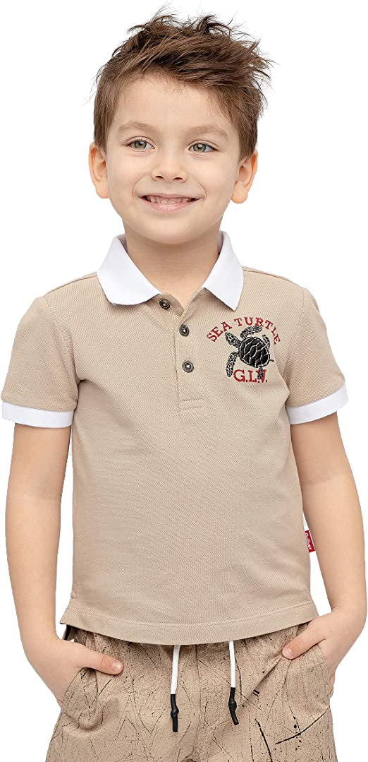 GULLIVER Boys Short Sleeve Polo Shirt T-Shirt White Cotton Kids Summer for 9-15 Years