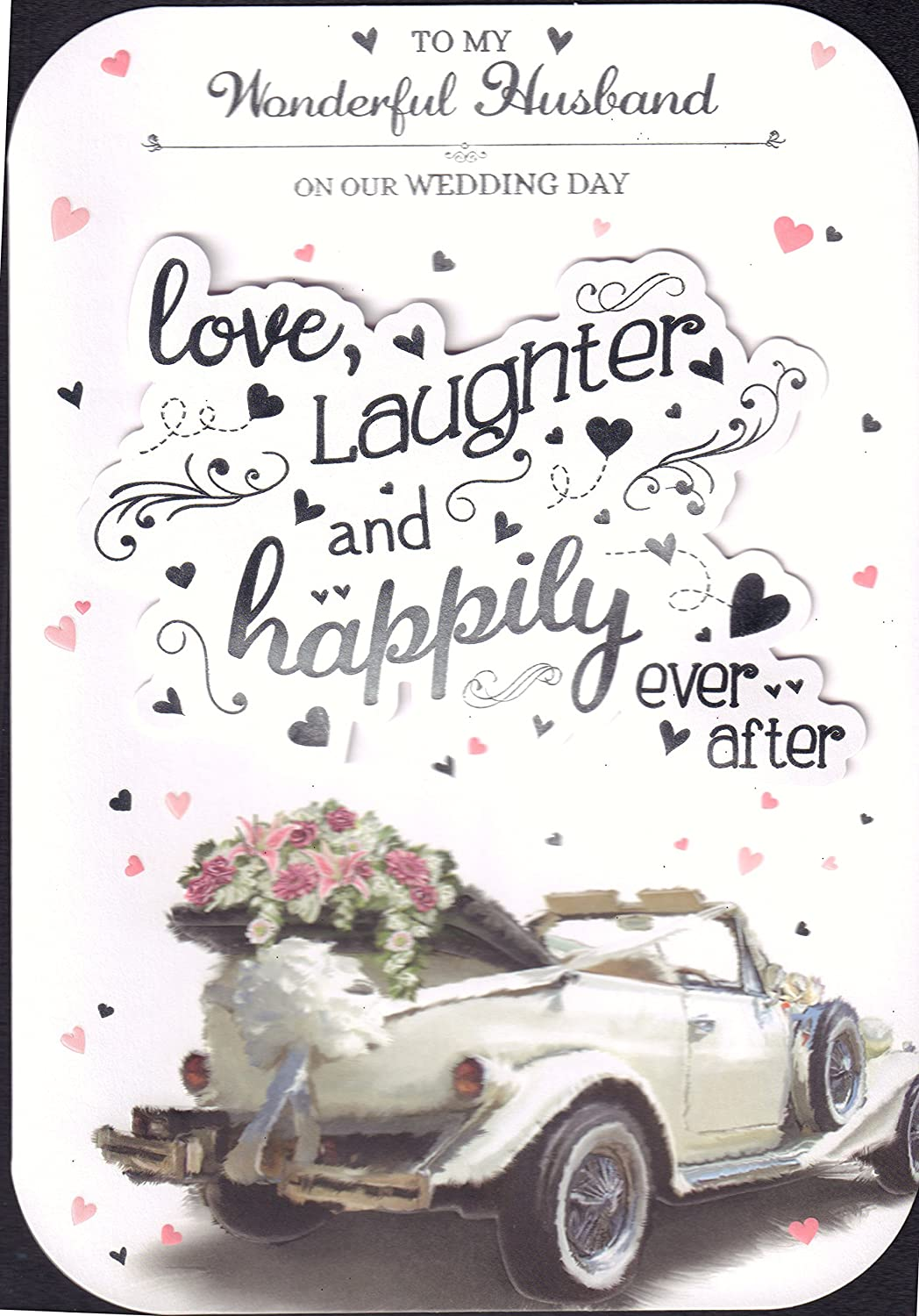 "Husband Wedding Day Card :"" to My Wonderful Husband On Our Wedding Day"" Prelude"
