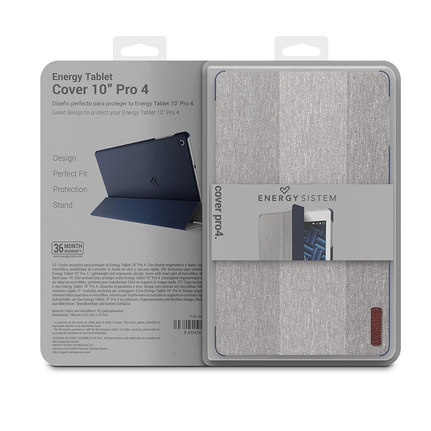 Energy Sistem Pro 4 - Funda para Tablet, Color Azul y Gris: Amazon ...