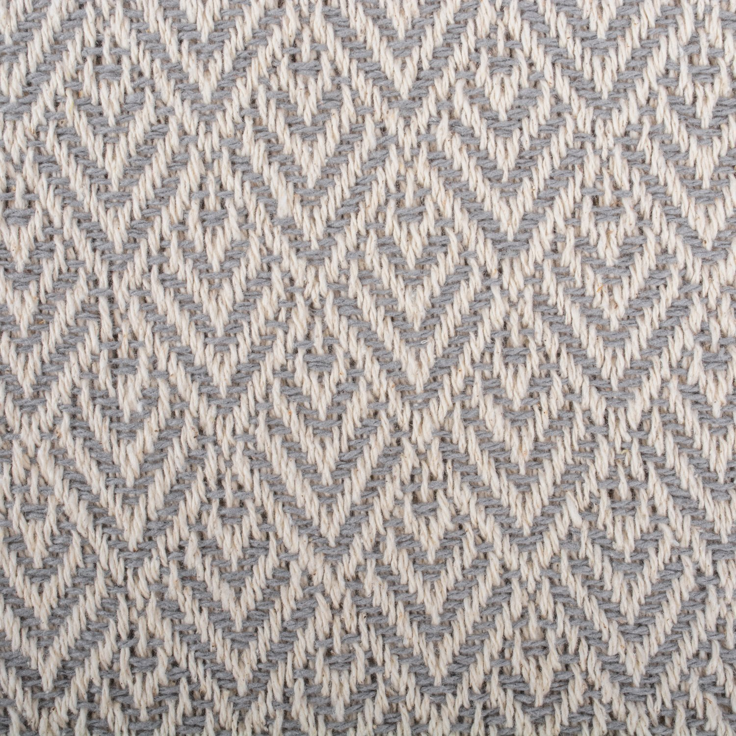 DII Rustic Farmhouse Cotton Diamond Blanket Throw with Fringe for Chair, Couch, Picnic, Camping, Beach, Everyday Use, 50 x 60 - Diamond Gray by DII (Image #2)