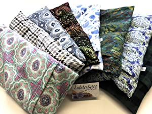 """Large or X large microwavable flax heating pad, The""""Flax Sak"""" Hot/cold pack with removable/washable cover."""
