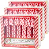 Candy Cane Peppermint Flavored   12 Pieces in Each Box - Net 5.08 Oz Pack of 3 - 36 Total Count   Individually Wrapped (Peppermint)