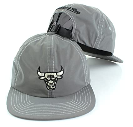 dc70987a5af NBA Mitchell   Ness Grey Distressed Reflective Slouch Adjustable Strapback  Hat (Adjustable