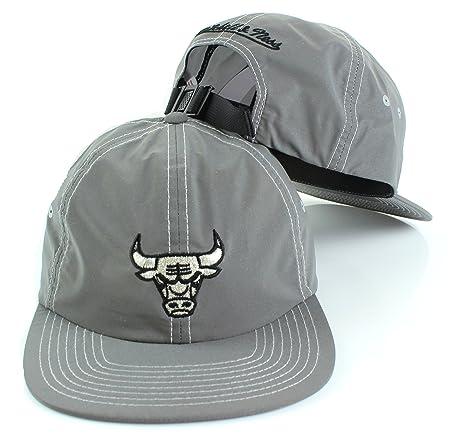 NBA Mitchell   Ness Grey Distressed Reflective Slouch Adjustable Strapback  Hat (Adjustable 74e7502b4f4