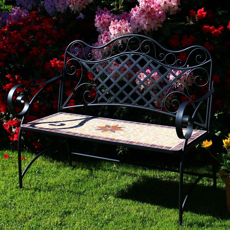 Mosaik 01 Dszapaci Sitzbank Garten Metall Mosaik Gartenbank 2