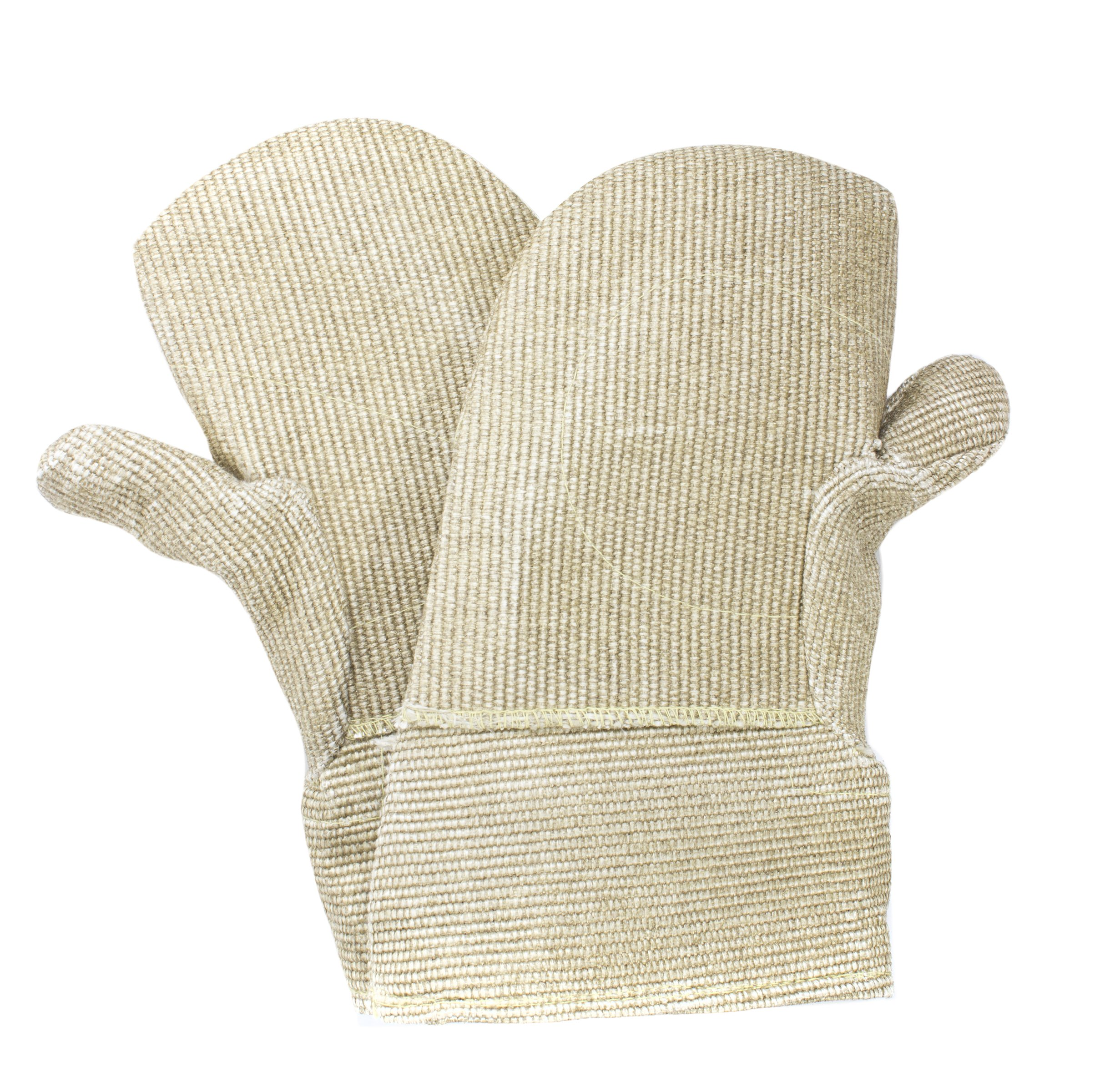 National Safety Apparel M52PCLW00214 PBI/Kevlar Mitten with Thermobest Cuff, 14'', Brown