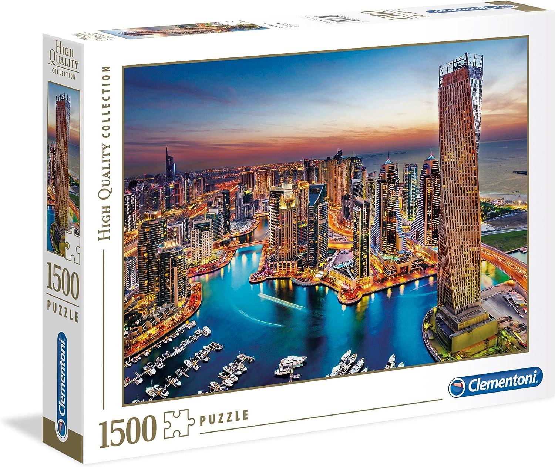Clementoni- Puzzle 1500 Piezas Dubai Marina (31814.8)