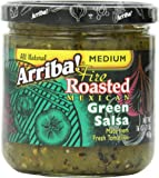 Arriba! Fire Roasted Mexican Medium Green Salsa, 16 Ounce Jars (Pack of 4)