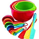 Fiesta 15-Piece Prep and Serve Baking Set, 4 Measuring Spoons, 4 Measuring Cups, 3 Spatulas, 3 Serve Bowls