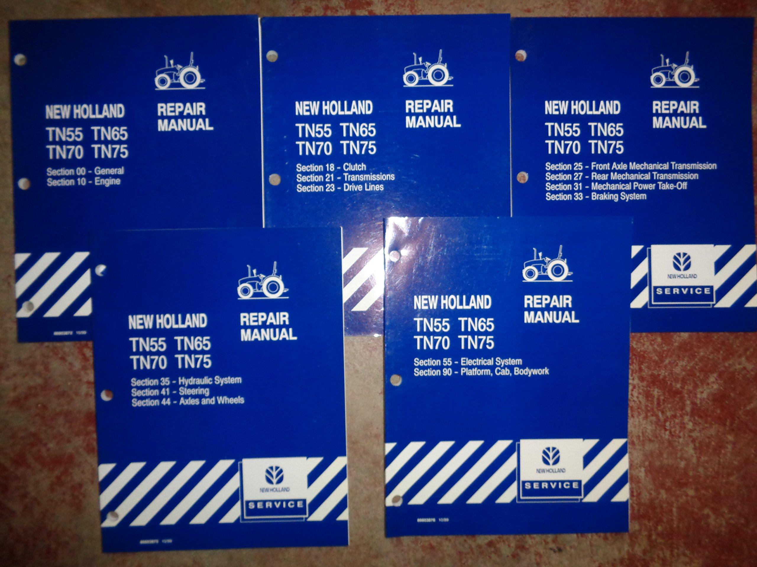 new holland tn55 tn65 tn70 tn75 tractor service repair manual 10 99 rh amazon com New Holland TN70 Specs New Holland TN70 Forums