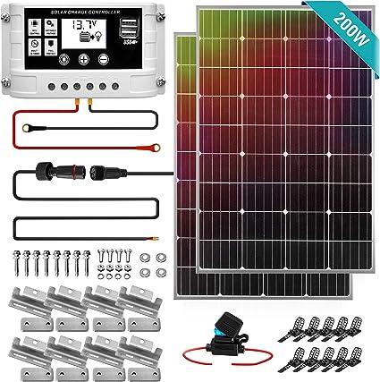 SereneLife 200W 12v Solar Panel Starter Kit