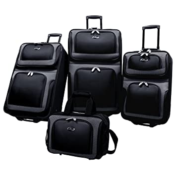 Amazon.com: U.S. Traveler New Yorker Juego de equipaje de 4 ...