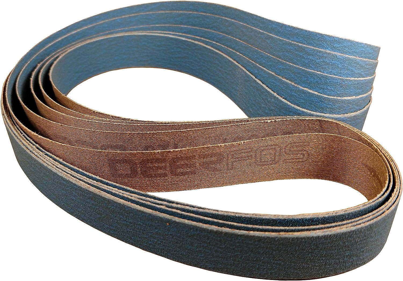 1 In. X 42 In. Ceramic Sharpening Sanding Belt For 1X42 Belt Sanders 5 Pack 220 Grit P Scale Abrasive (Ceramic, 220 Grit)