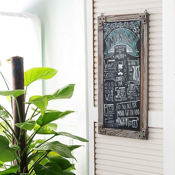 Amazon.com: MyGift pizarrón con marco de madera ...
