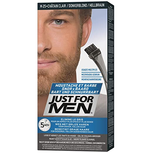 Just For Men - Tinte de barba y bigote para hombre, color bronceado (M25), 1/ paquete: Amazon.es: Belleza