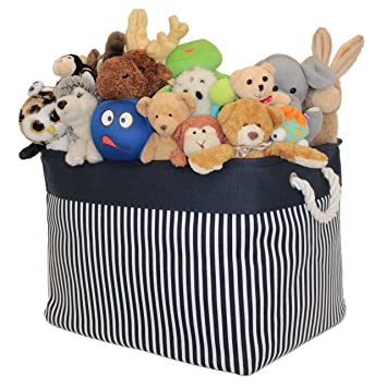 Canvas Toy Storage Basket and Organizer | Large 17u0026quot; x 12u0026quot; x 13u0026quot;  sc 1 st  Amazon.com & Amazon.com : Canvas Toy Storage Basket and Organizer | Large 17