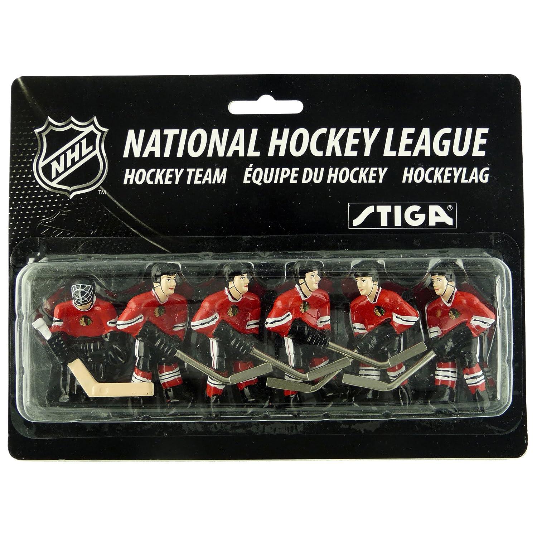 NHL Chicago Blackhawks Table Top Hockey Game Players Team Pack Stiga 7111-9090-32
