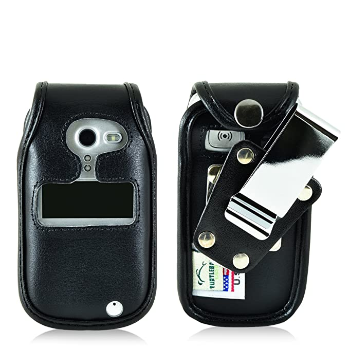 best service 1893c 81ea8 Turtleback Fitted Case for Doro PhoneEasy 626 Flip Phone Black Leather  Rotating Removable Metal Belt Clip Made in USA