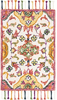 db1724d6c030e Safavieh Blossom Collection BLM456A Floral Vines Ivory and Multi Premium  Wool Area Rug (4'